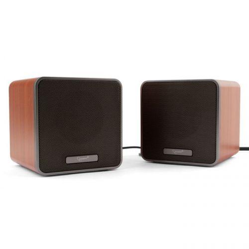 Акустическая система 2.0 Gembird SPK-206 ДФ, коричневый, 5 Вт, регулятор громкости, USB-питание