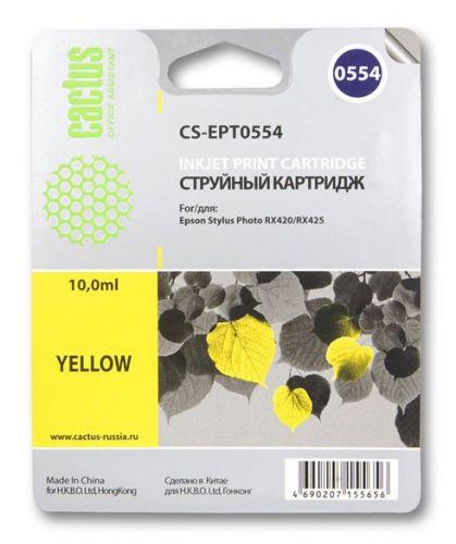 Картридж Cactus CS-EPT0554 для МФУ Epson Stylus RX520/Stylus Photo R240, желтый