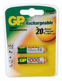 GP 100AAAHC (1,2V) 1000mAh 2шт size AAA