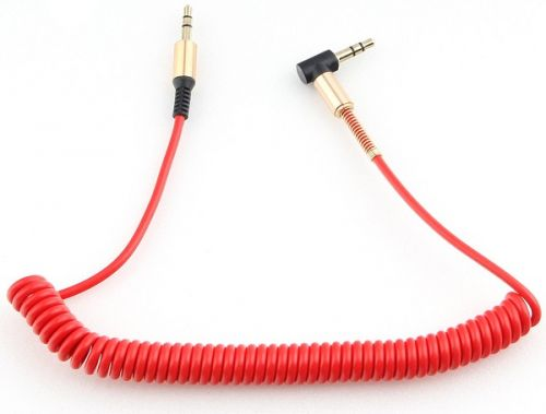 Кабель аудио Cablexpert CCAB-02-35MMLC-1.8MR спиральный 3.5 джек (M)/3.5 джек (M), красный, 1.8м, блистер