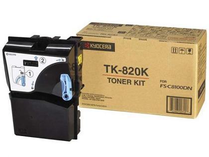 Тонер-картридж Kyocera TK-820K 1T02HP0EU0 для FS-C8100DN Black 15000 стр