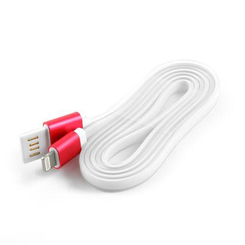 Кабель интерфейсный USB 2.0 Cablexpert AM/Lightning 8P CC-ApUSBr1m 1 м, силиконовый шнур, разъемы розовый металлик, пакет