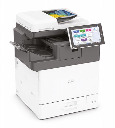 МФУ цветное Ricoh IM C400SRF 418575 A4 43/40 стр/мин ( факс). oднопроходный автоподатчик. дуплекс. кассета 550л, 2Гб, HDD 320Гб, сеть 1Гбит, USB 2.0.