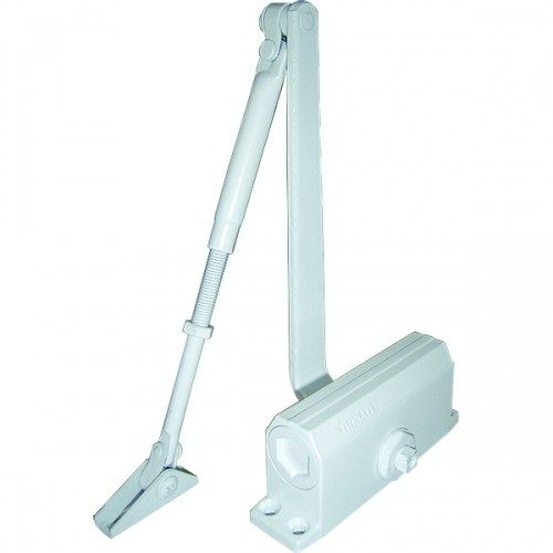 Доводчик Oubao E-605 (белый) для дверей весом до 120 кг, двухскоростной, установочный размер 230х19 мм