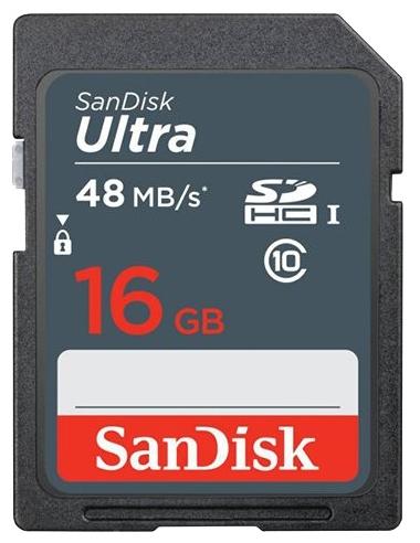 Карта памяти 16GB SanDisk SDSDUNB-016G-GN3I N  Class10 Ultra UHS-I 48MB/s