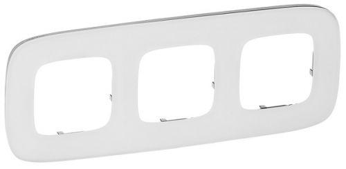 Рамка Legrand 755543 Valena ALLURE, 3-ая, белое стекло