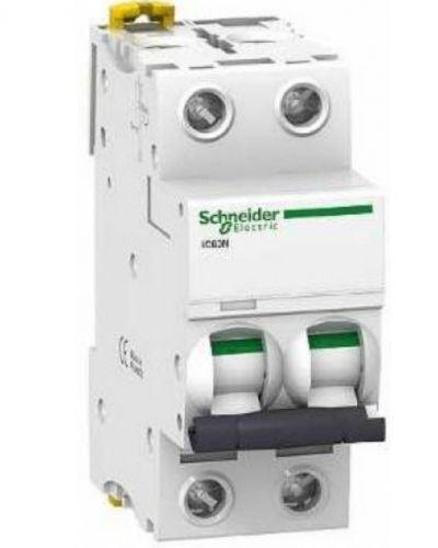Автоматический выключатель Schneider Electric A9F74202 2P 2A (C)(серия Acti 9 iC60N) автоматический выключатель schneider electric ez9f34210 2p 10a c серия easy 9
