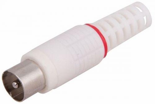 Разъем PROconnect 05-2041-2-9 антенный на кабель, (штекер-TV), белый, (5шт.)