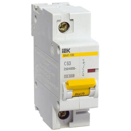 Автоматический выключатель IEK MVA40-1-080-C ВА 47-100 1Р 80А 10 кА х-ка С