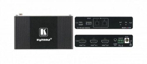 Коммутатор Kramer VS-211X 20-80549090 2х1 HDMI с автоматическим переключением, коммутация по наличию сигнала, поддержка 4K60 4:4:4, деэмбедирование ау