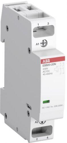 Контактор модульный ABB 1SBE121111R0120 ESB20-20N-01 модульный (20А АС-1, 2НО), катушка 24В AC/DC