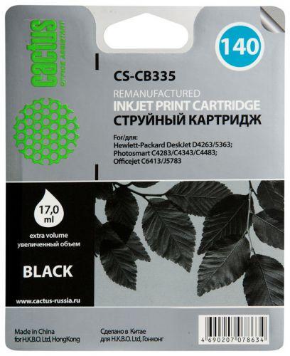 Картридж Cactus CS-CB335 №140 (черный) для HP DeskJet D4263/D4363; OfficeJet J5783/J6413; PSC C4273/C4283/C4343/C4383/C4473/C4483/C4583/C5283/D5363