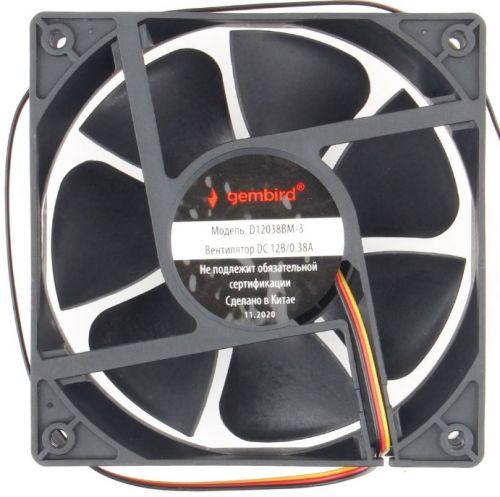 Вентилятор для корпуса Gembird D12038SM-3 120x120x38, втулка, 3 pin, провод 40 см вентилятор для корпуса gembird d50sm 12as