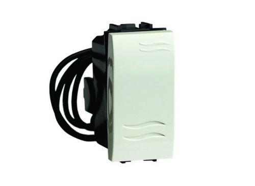 Переключатель DKC 76011BL с подсветкой, белый, 1 модуль, Brava