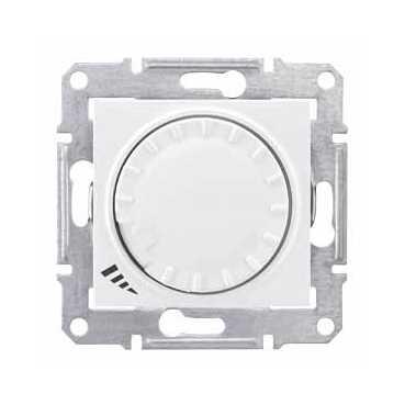 Светорегулятор Schneider Electric SDN2200821 Sedna поворотно-нажимной, 40-600Вт, 220 В, IP20, универсальный (белый)