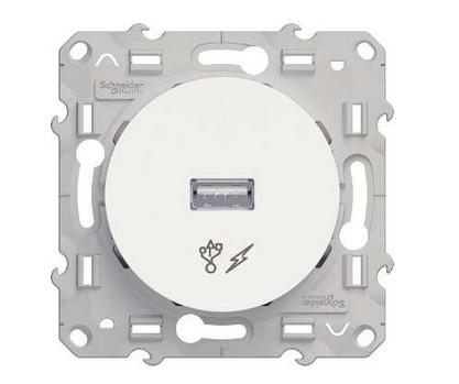 Розетка Schneider Electric S52R408 Odace Белый Розетка USB