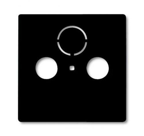 Накладка ABB 1724-0-4314 BASIC 55 (плата центральная) для ТВ-розеток шато (чёрный)