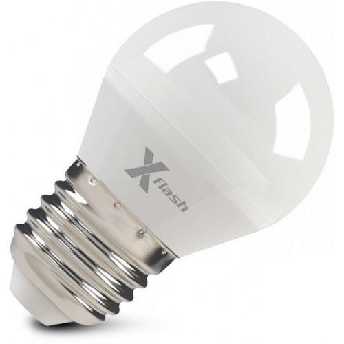 Лампа светодиодная X-flash 47543 XF-E27-G45-6.5W-4000K-230V Е27, 6,5 Вт, 4000 К, 220 В, 490 Лм, матовая колба - шар лампа светодиодная x flash 48014 xf e14 fl p45 4w 4000k 230v е14 4 вт 4000 к 220 в 460 лм матовая колба шар