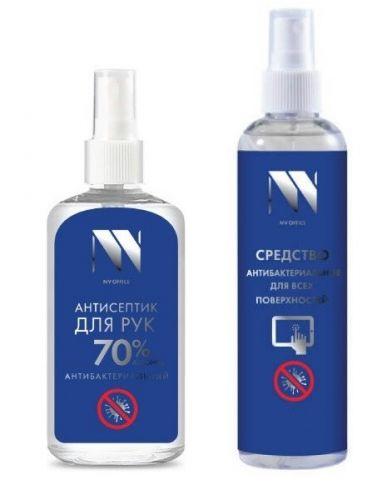 Набор NVP NVO-02-004 антибактериальный, спрей для поверхности 250 мл + спрей для рук 125мл