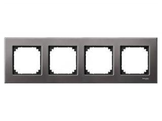 Рамка Schneider Electric MTN403414 Merten M-Elegance 4-я, IP20 (серый родий)