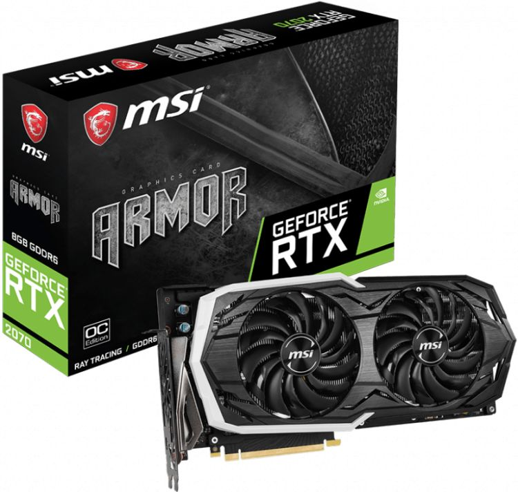 MSI GeForce RTX 2070 ARMOR 8G OC