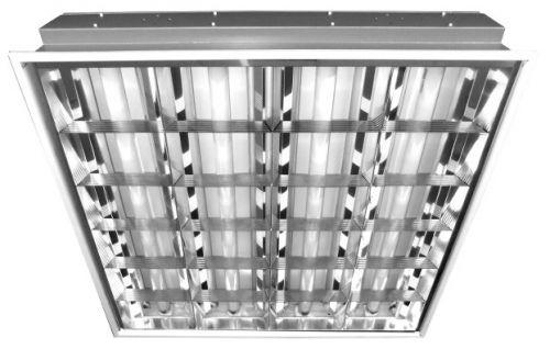 Светильник люминесцентный Центрстройсвет ЦБ000000728 ЛВО 4х18-CSVT встраиваемый зеркальная решетка ЭПРА 595х595 (ЛВО 4х18-CSVT)