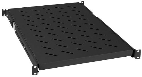 Полка выдвижная Cabeus JE05-1000-BK для шкафов и стоек глубиной 1000 мм, черная