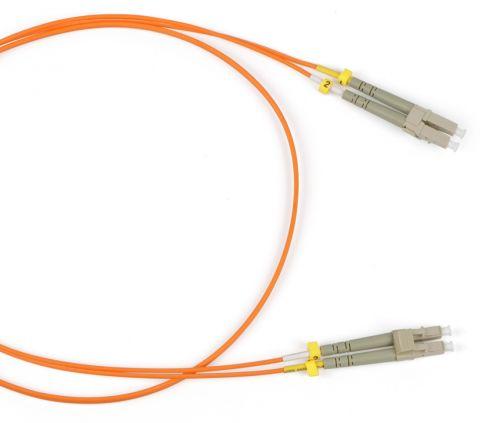 Кабель патч-корд волоконно-оптический Hyperline FC-D2-504-LC/PR-LC/PR-H-1M-LSZH-MG MM 50/125(OM4), LC-LC, duplex, LSZH, 1 м патч корд hyperline fc d2 50 lc pr sc pr h 1m lszh 1 м оранжевый