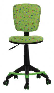 Кресло Бюрократ CH-204-F детское, цвет зеленый, кактусы, крестовина из пластика, подст.для ног