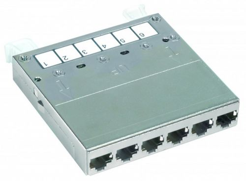 Кассета Eurolan 27C-00-EA-06BL 6 портов категории 6A FTP
