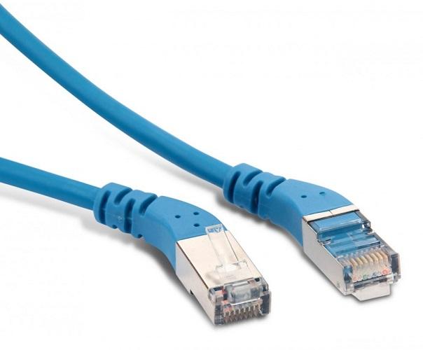 Hyperline PC-APM-STP-RJ45/L45-RJ45/R45-C5e-1M-LSZH-BL