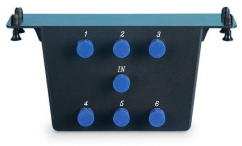 Модуль Hyperline HC-VV-1I6O-BK распределительный, видео, 6-портовый, 1 вход и 6 выходов, 5-2300 MHz, вертикальный монтаж (препятствует деформации коак