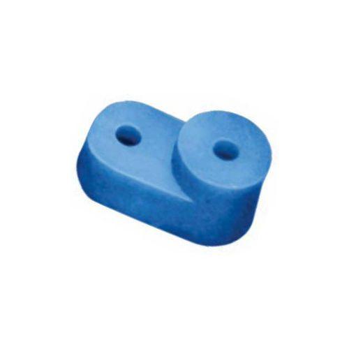 Изолятор IEK YIS32 угловой для 0 шины синий