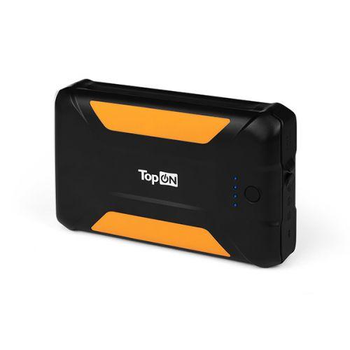 Аккумулятор внешний универсальный TopOn TOP-X38 38000mAh 3 USB-порта, автомобильная розетка 12V 15A 180W, аварийный свет, фонарь, защита от пыли и бры