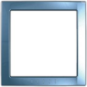 Рамка Schneider Electric MGU4.000.54 Unica декоративный элемент голубой лед