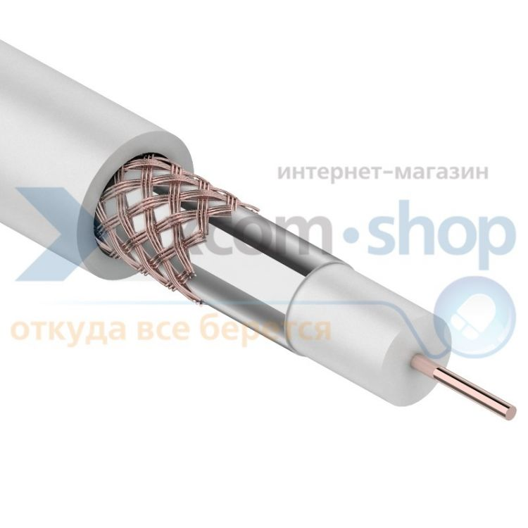 Rexant RG-59U+CU, (64%), 75 Ом, 305м., белый