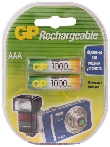 Аккумулятор GP 100AAAHC 1.2V, 1000mAh, 2шт, size AAA