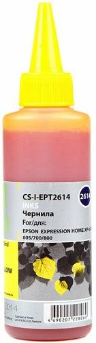 Чернила для заправки Cactus CS-I-EPT2614 желтый (100мл) Epson ExpIession Home XP-600/605/700/800