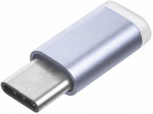 Переходник GCR GCR-UC3U2MF USB Type C на micro USB 2.0, M/F, голубой переходник micro usb usb type c f m samsung чер ee gn930bbrgru 1 шт
