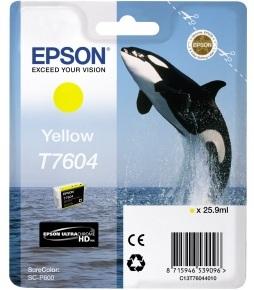 Картридж Epson C13T76044010 для принтера T760 SC-P600, желтый