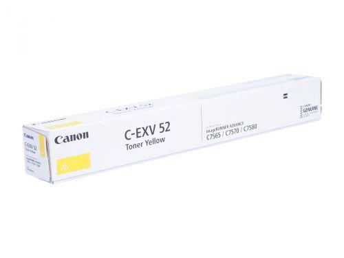 Тонер Canon C-EXV 52 1001C002 yellow, 66 5000 стр, для IR ADV C7565i, C7570i, C7580i