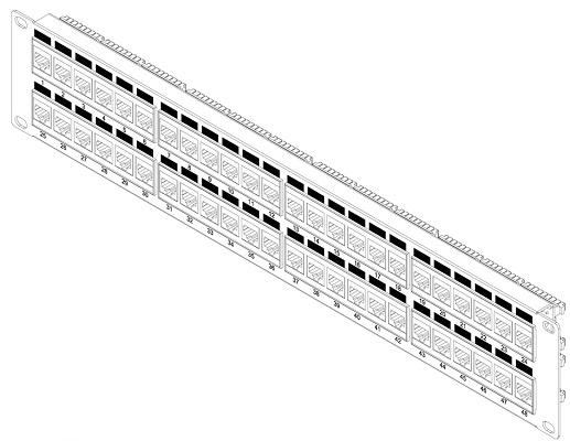 Hyperline PP3-19-48-8P8C-C5E-110D