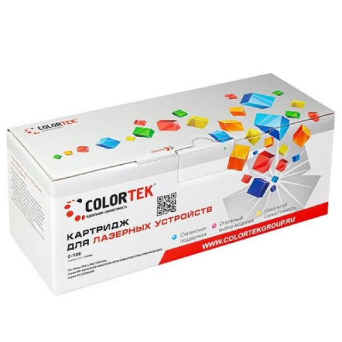 Картридж Colortek CT-728 для принтеров Canon FAX-L150, FAX-L170, FAX-L410, MF-4410, MF-4430, MF-4450, MF-4550, MF-4570, MF-4580, MF-4730, MF-4750, 210