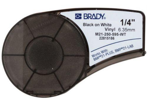 Лента красящая Brady M21-250-595-WT brd139744 6.35 мм/6.4 м винил, черный на белом, для BMP21 Plus недорого