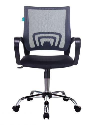 Кресло Бюрократ CH-695NSL цвет темно-серый TW-04, сиденье черное TW-11, крестовина металл хром