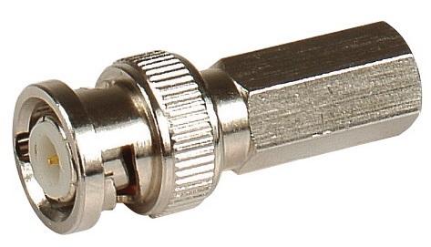 Штекер LAZSO APBT11-RG6U(100) BNC, навинчивающийся на кабель RG6U, упаковка 100шт. Диапазон частот 0-1ГГц. Материал корпуса -цинк. Покрытие - никель