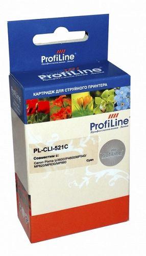 Фото - Картридж струйный ProfiLine PL-CLI-521C-C Картридж PL-CLI-521C для принтеров Canon Pixma IP3600/IP4600/MP540/MP550/MP620/MP630/MP980 с чипом водн Prof картридж profiline pl