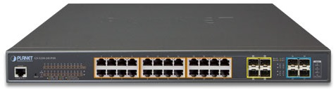 Фото - Коммутатор PoE Planet GS-5220-24UP4XR L2+ 24-Port 10/100/1000T Ultra PoE + 4-Port 10G SFP+ Managed Switch with System Redundant Power (400W) 24 ports poe switch with 2 gigabit sfp port 400w poe switch 24 port full gigabit switch