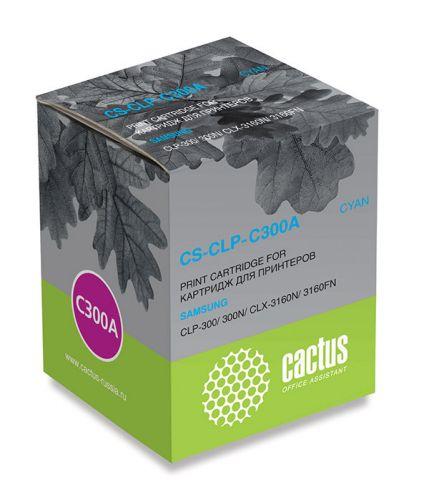 Картридж Cactus CS-CLP-C300A для принтеров SAMSUNG CLP-300, голубой, 1000 стр.