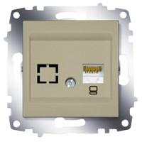 Розетка ABB 619-011400-247 Cosmo компьютерная (RJ45 cat 6 + гнездо) 50В, IP20 (титаниум)